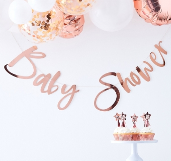 Banner rose gold Baby Shower