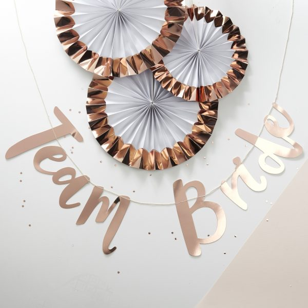 banner rose gold Team Bride